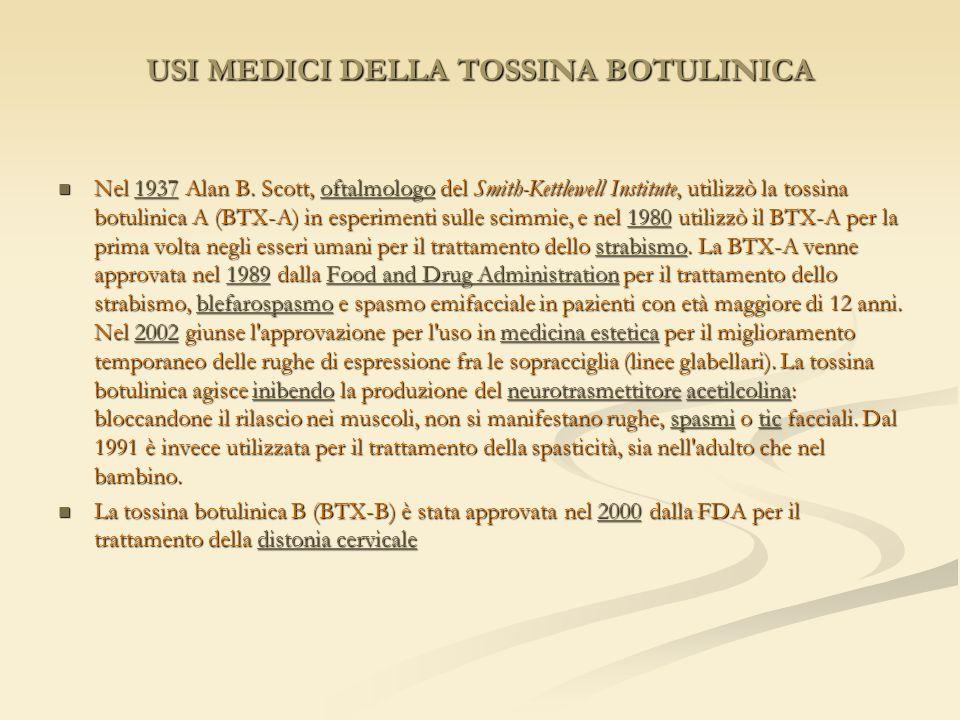 USI MEDICI DELLA TOSSINA BOTULINICA