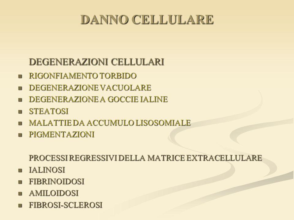 DEGENERAZIONI CELLULARI