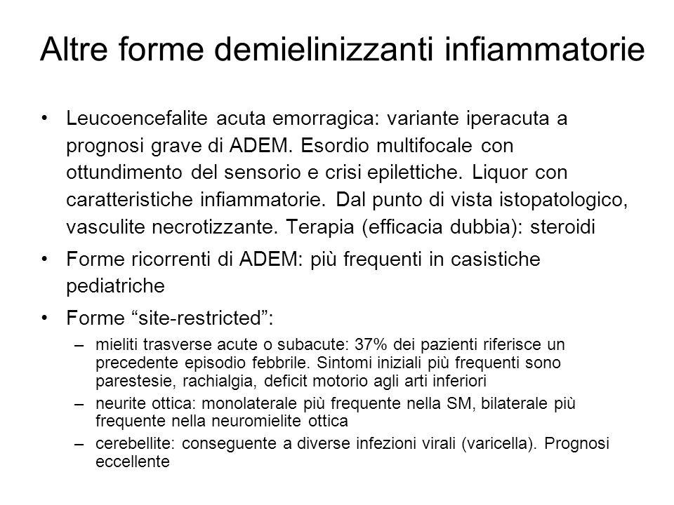 Altre forme demielinizzanti infiammatorie