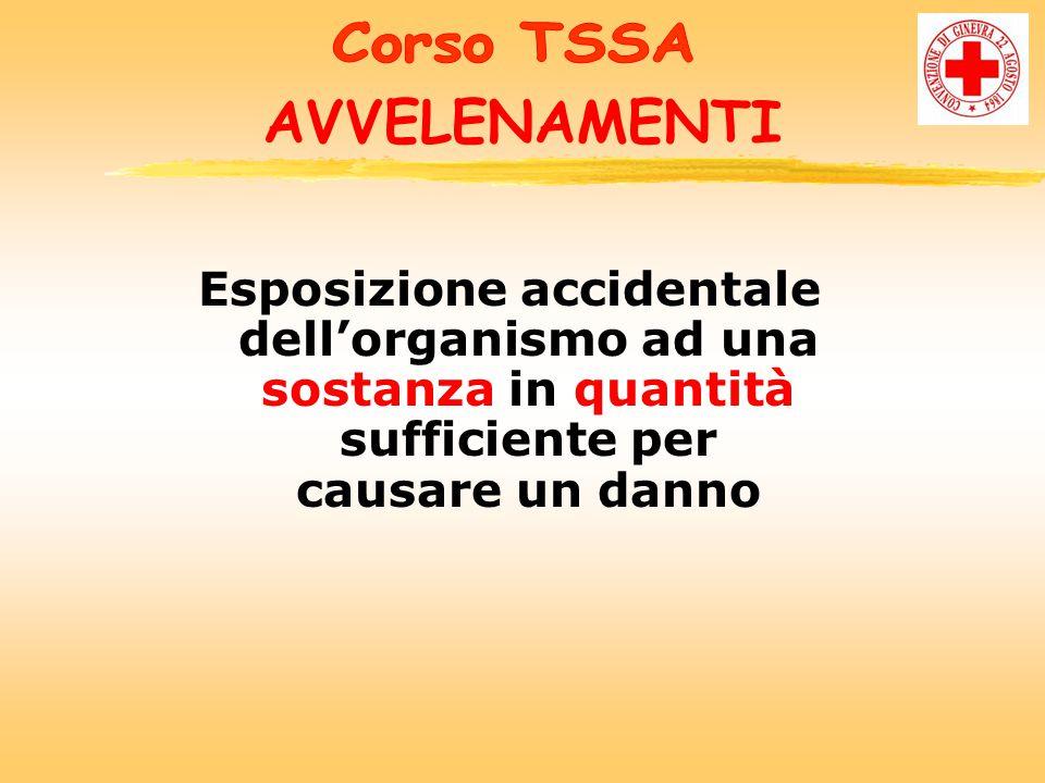 Corso TSSA AVVELENAMENTI.