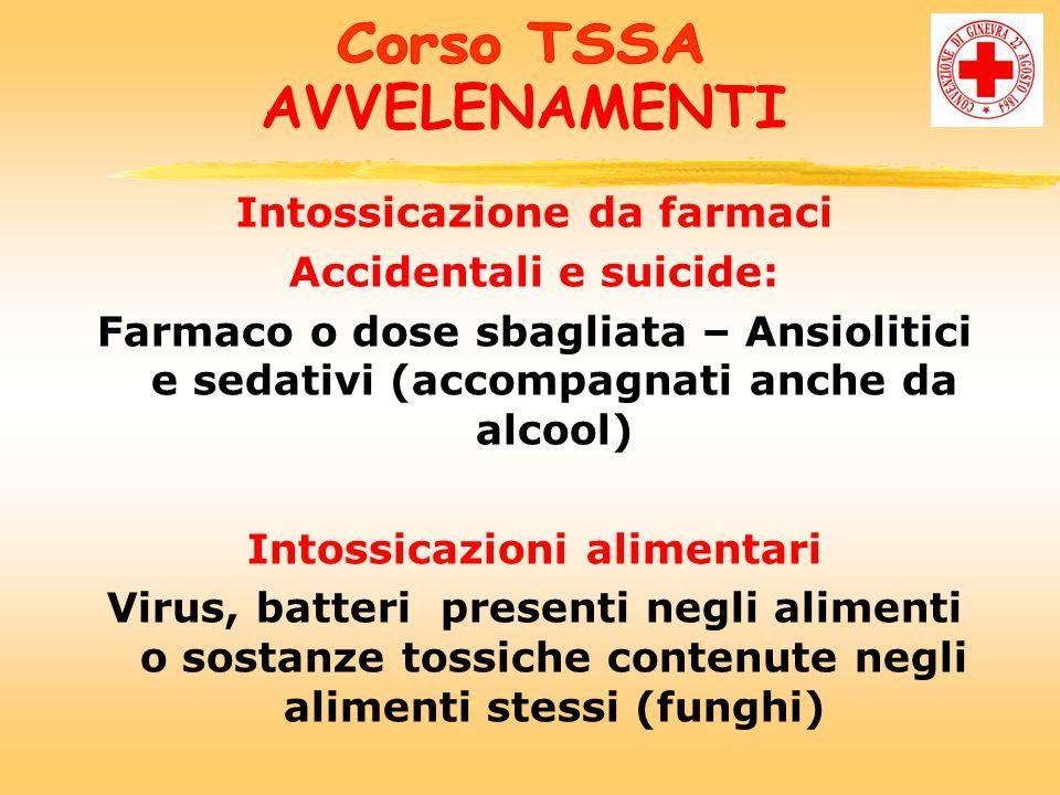 AVVELENAMENTI Intossicazione da farmaci Accidentali e suicide: