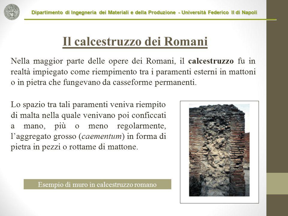 Il calcestruzzo dei Romani
