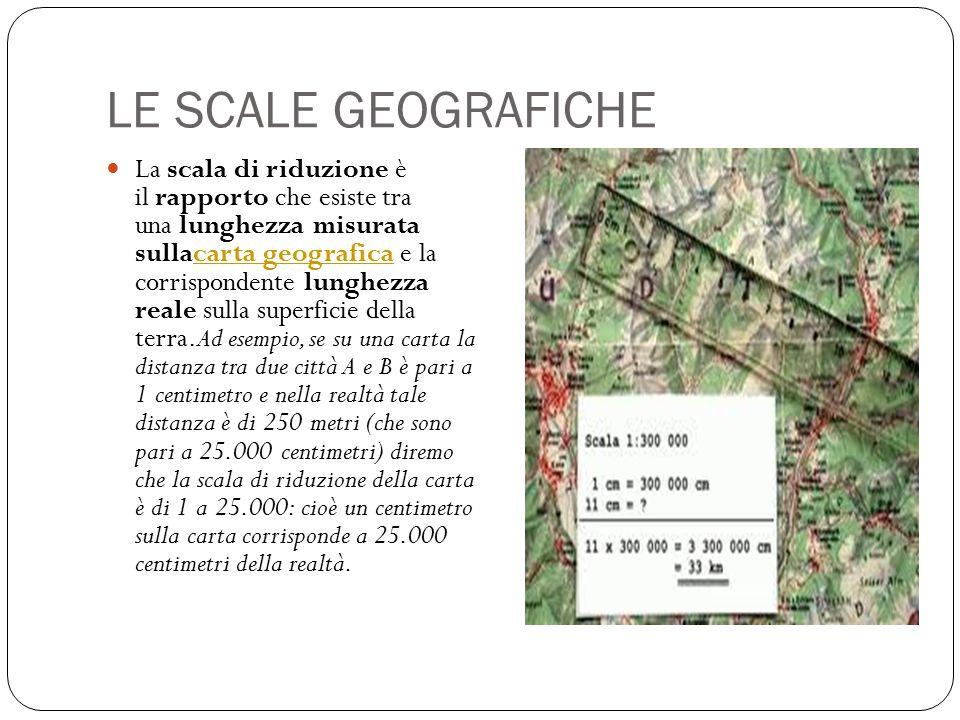 LE SCALE GEOGRAFICHE