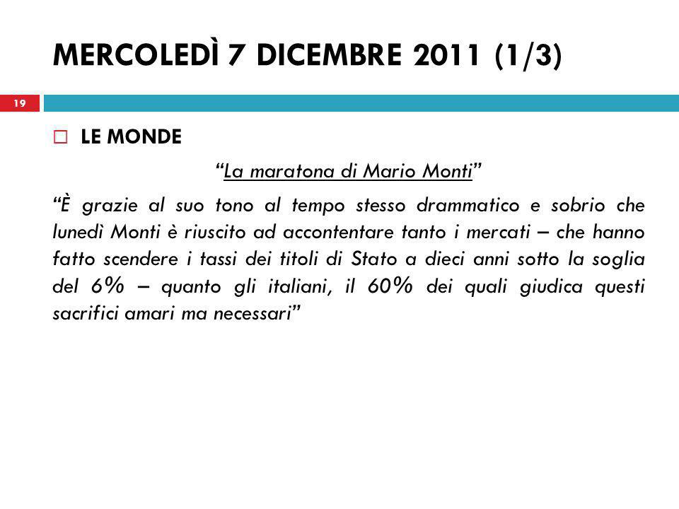La maratona di Mario Monti