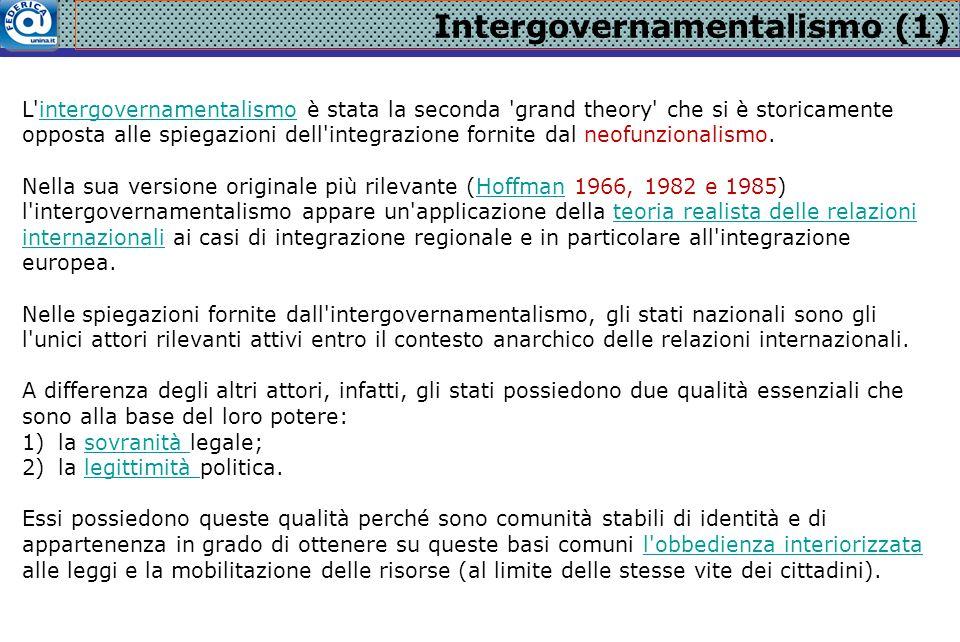 Intergovernamentalismo (1)