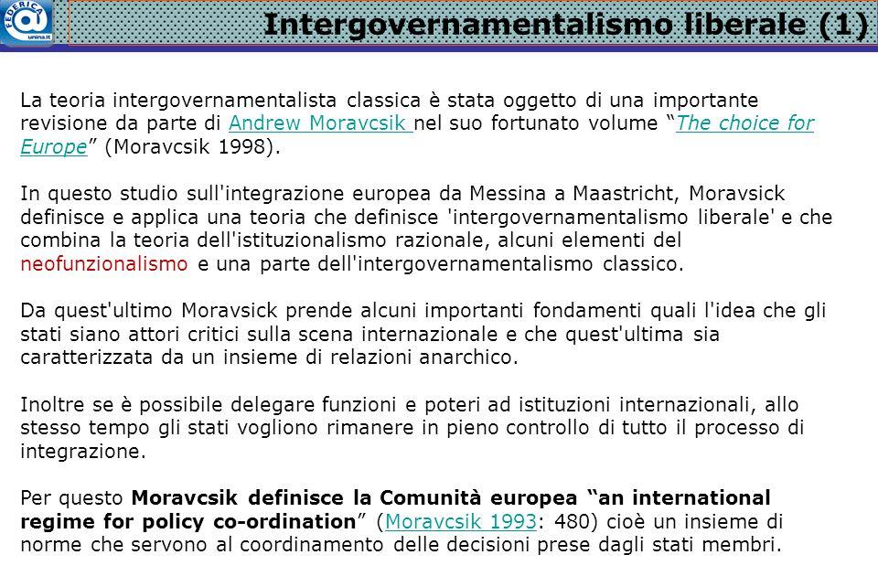 Intergovernamentalismo liberale (1)