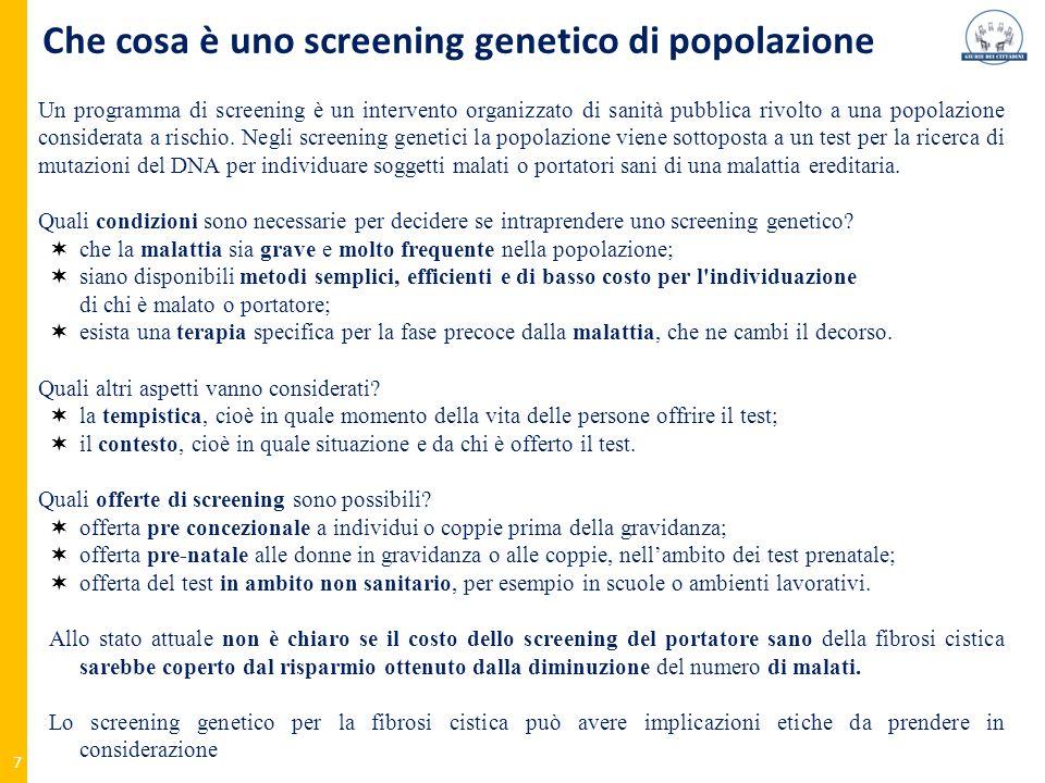Che cosa è uno screening genetico di popolazione