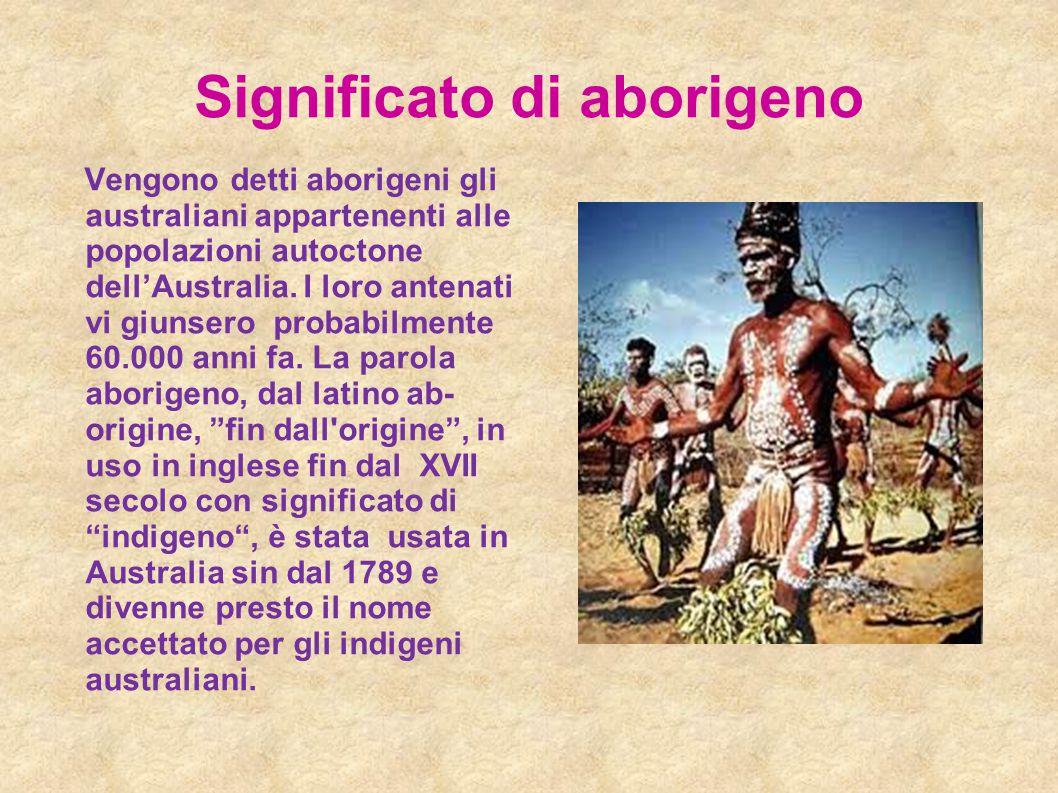 Significato di aborigeno