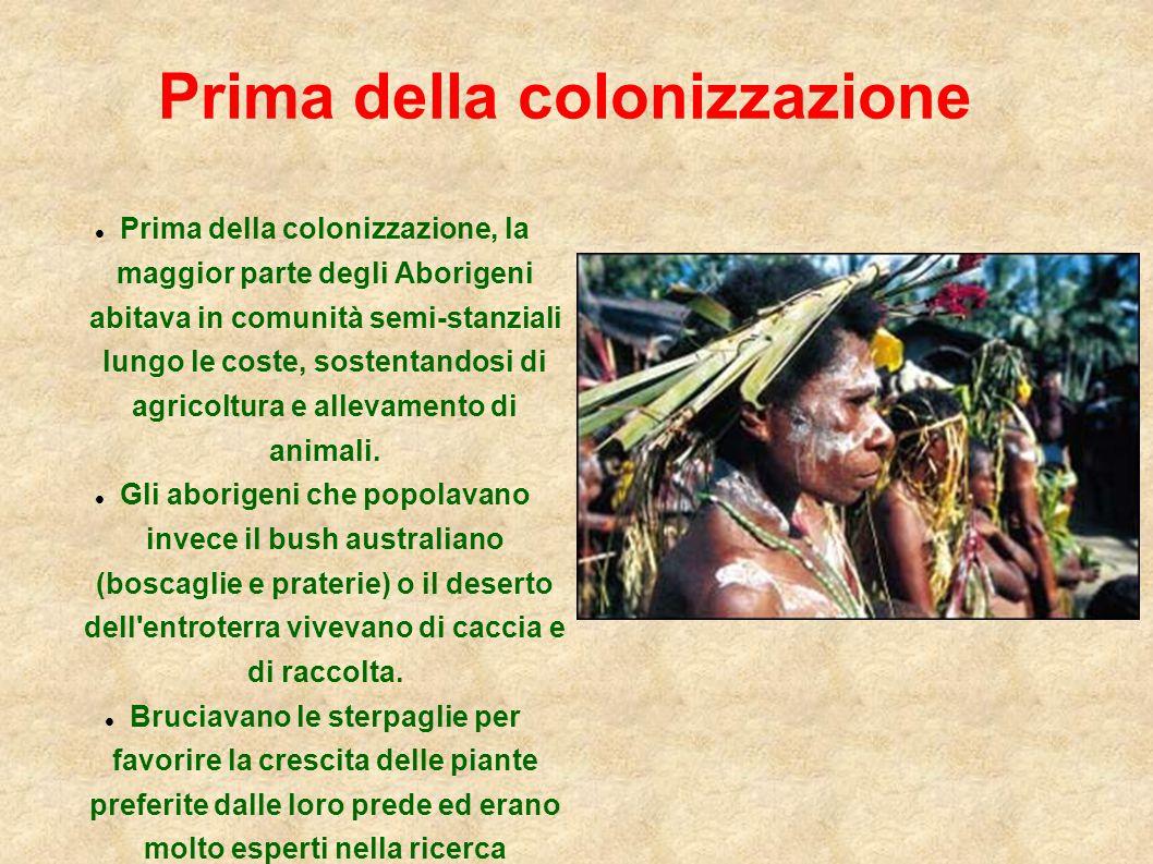 Prima della colonizzazione