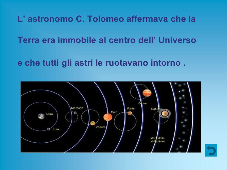 L' astronomo C. Tolomeo affermava che la