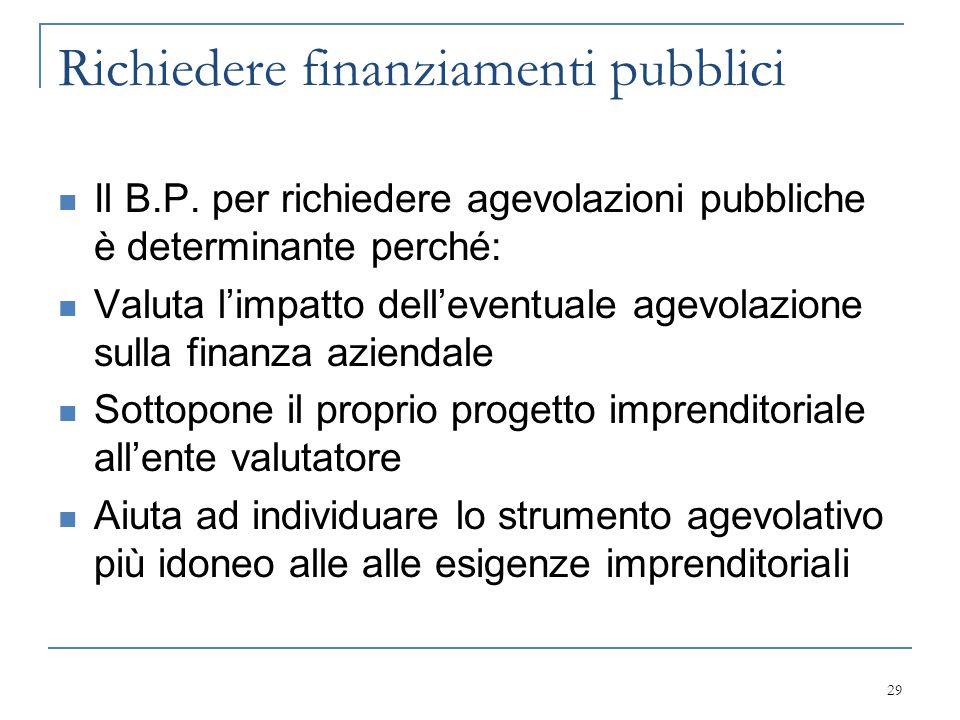 Richiedere finanziamenti pubblici