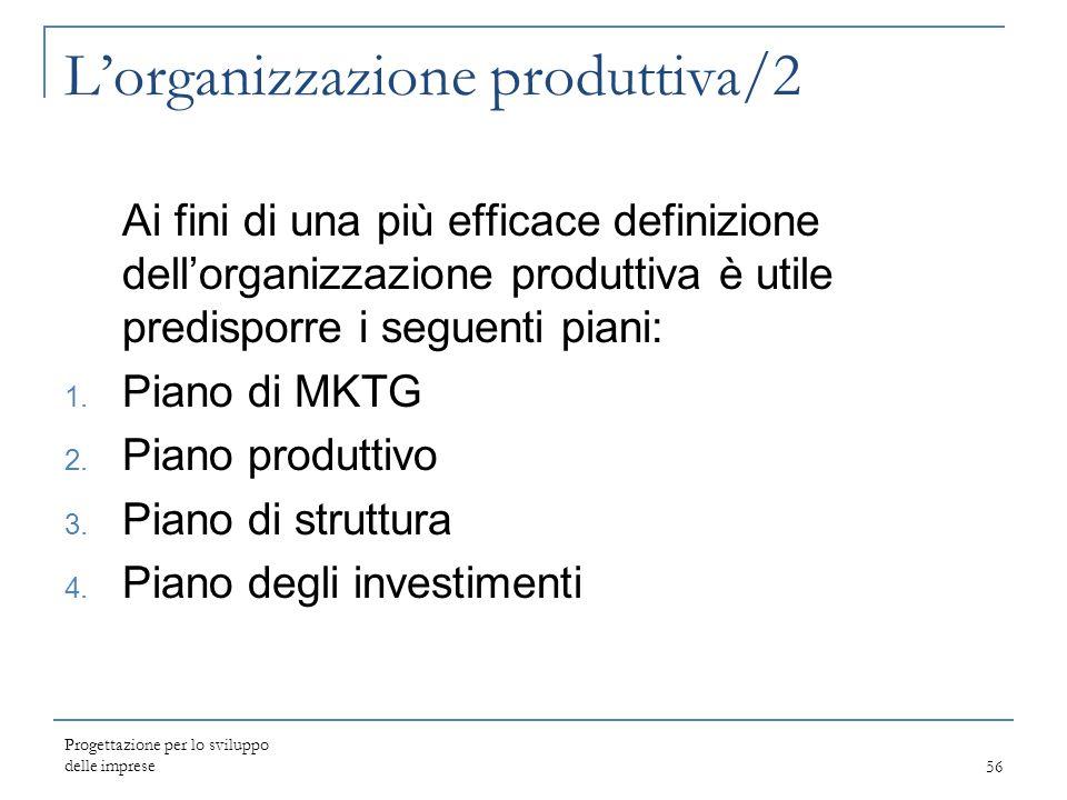 L'organizzazione produttiva/2