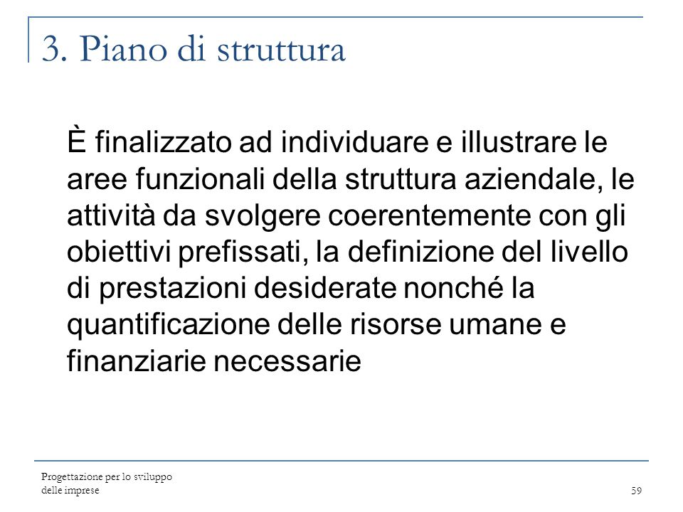 3. Piano di struttura
