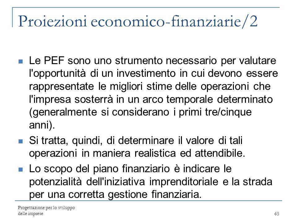 Proiezioni economico-finanziarie/2