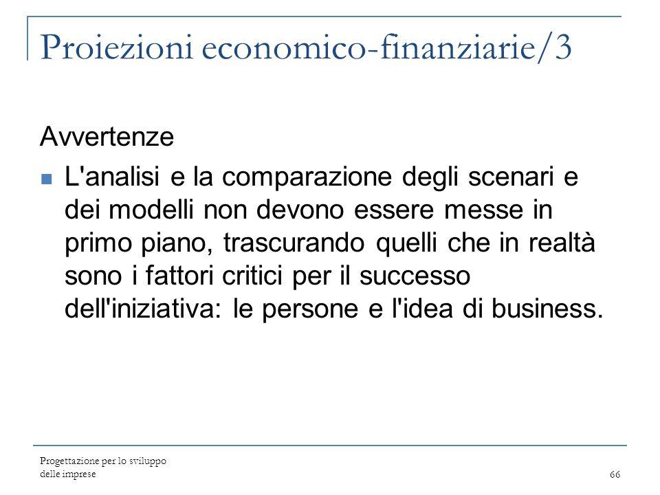 Proiezioni economico-finanziarie/3