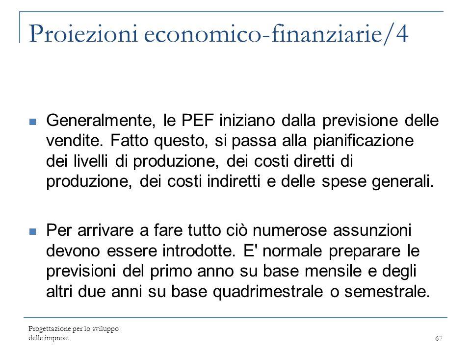 Proiezioni economico-finanziarie/4