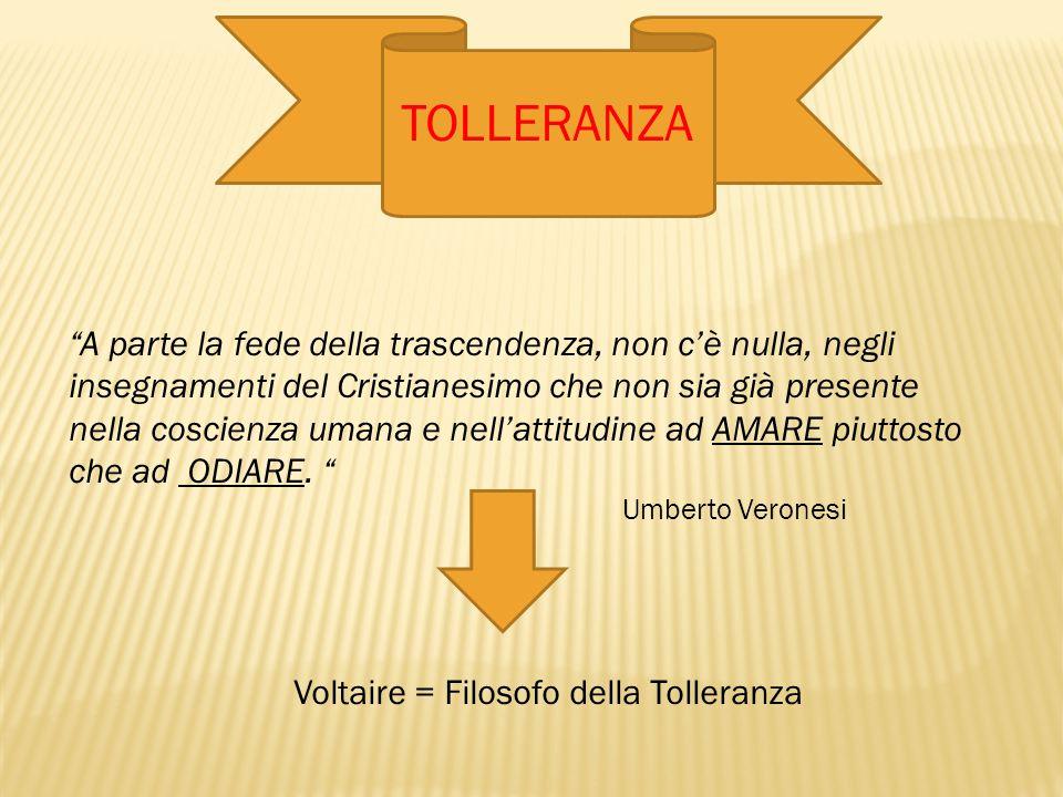 Voltaire = Filosofo della Tolleranza