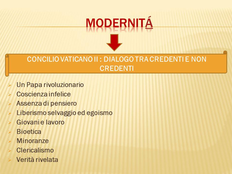 CONCILIO VATICANO II : DIALOGO TRA CREDENTI E NON CREDENTI