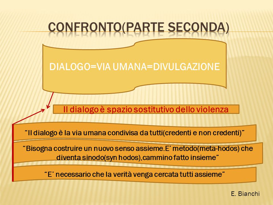 CONFRONTO(PARTE SECONDA)