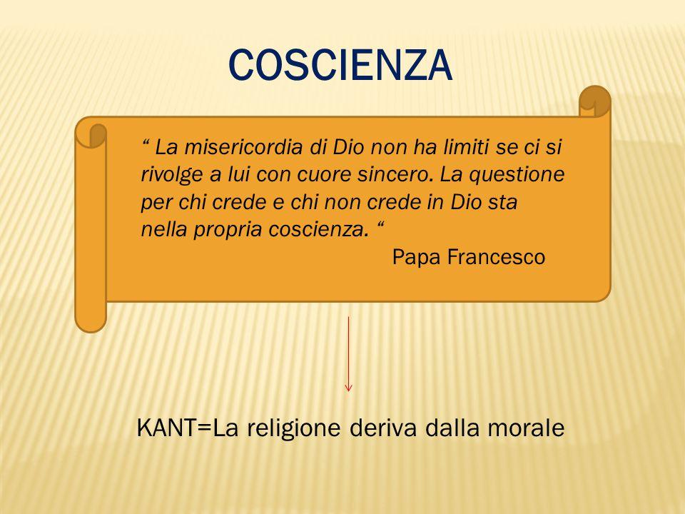 KANT=La religione deriva dalla morale