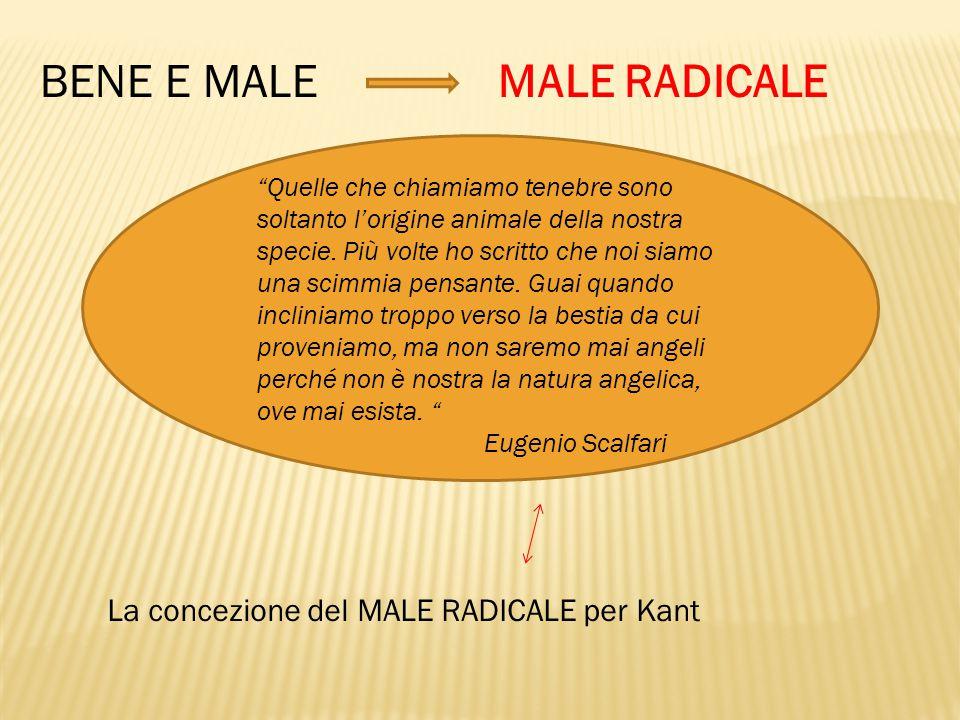 BENE E MALE MALE RADICALE