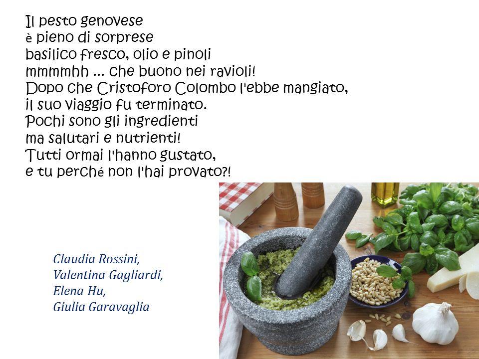 basilico fresco, olio e pinoli mmmmhh ... che buono nei ravioli!