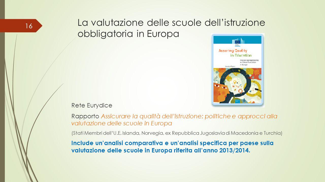 La valutazione delle scuole dell'istruzione obbligatoria in Europa