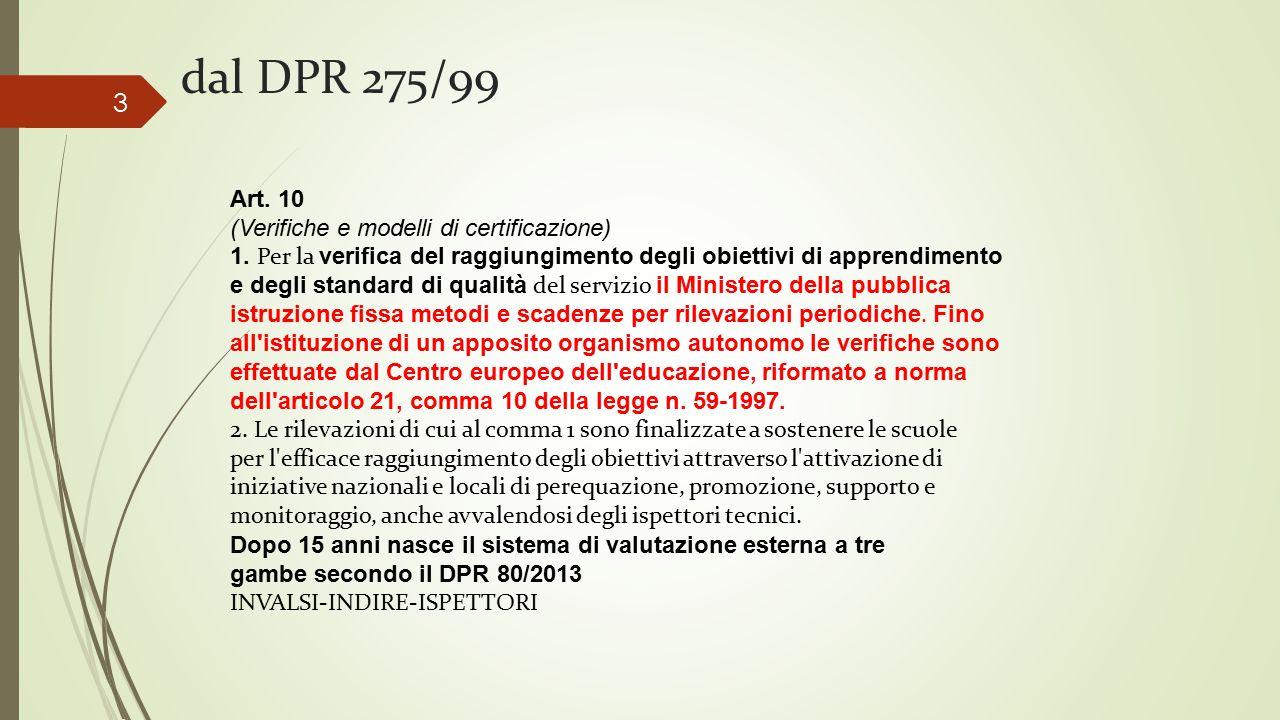 dal DPR 275/99 Art. 10 (Verifiche e modelli di certificazione)