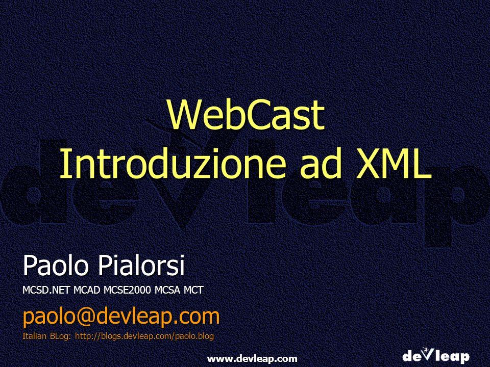 WebCast Introduzione ad XML