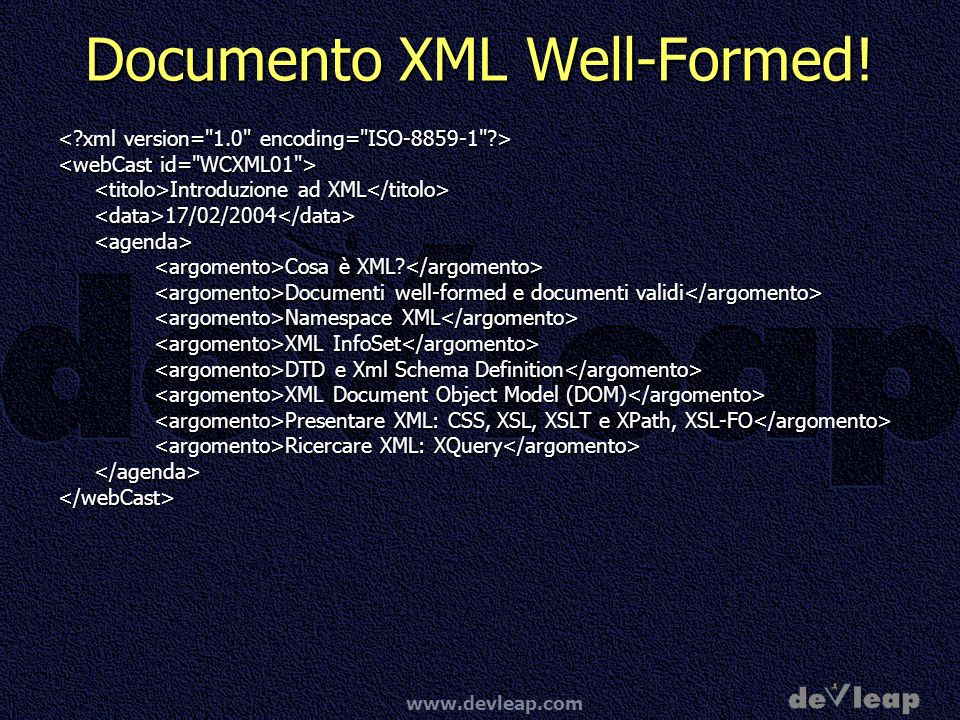 Documento XML Well-Formed!