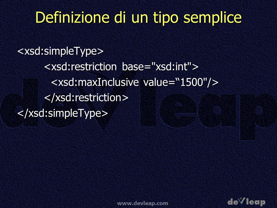 Definizione di un tipo semplice