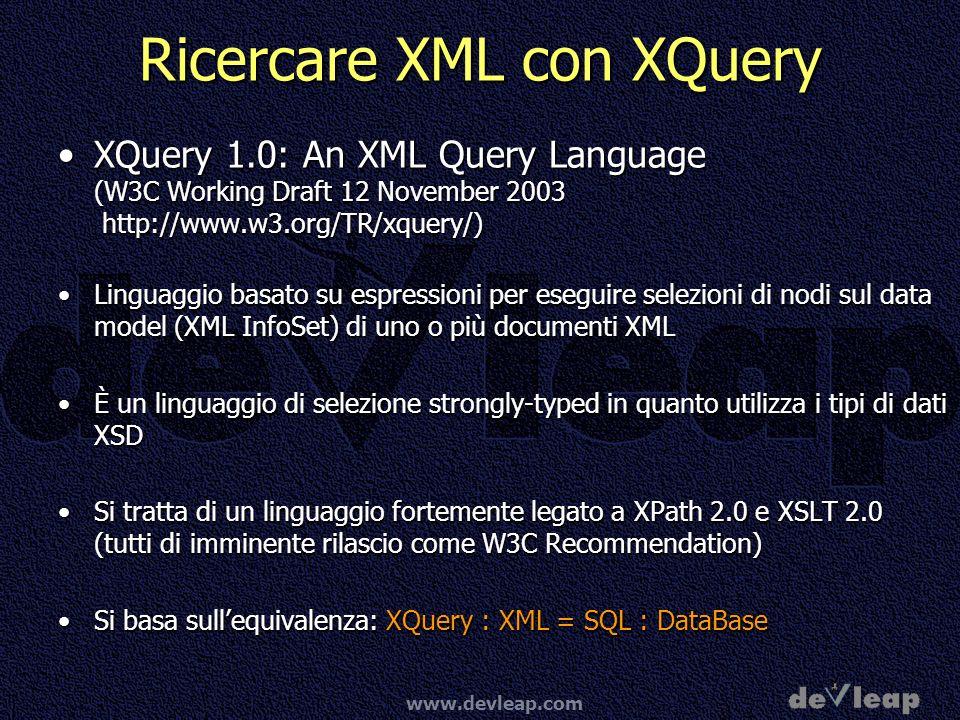 Ricercare XML con XQuery