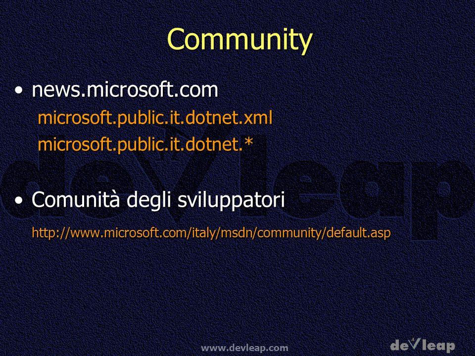 Community news.microsoft.com Comunità degli sviluppatori