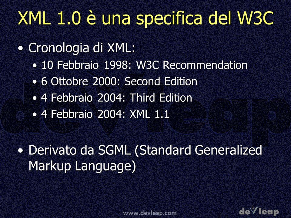 XML 1.0 è una specifica del W3C