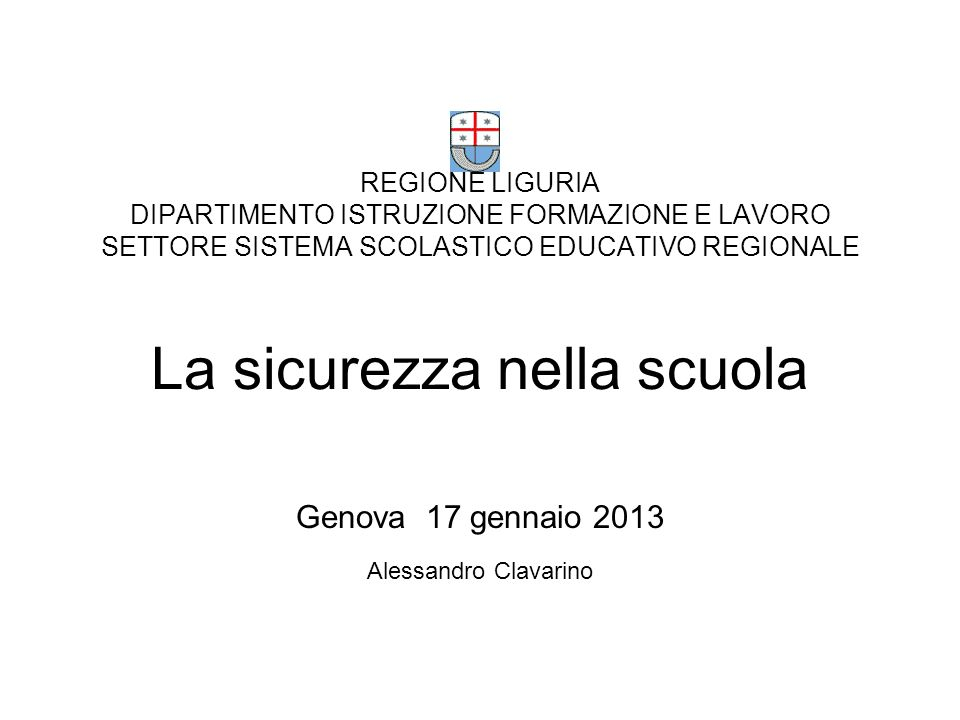 Genova 17 gennaio 2013 Alessandro Clavarino