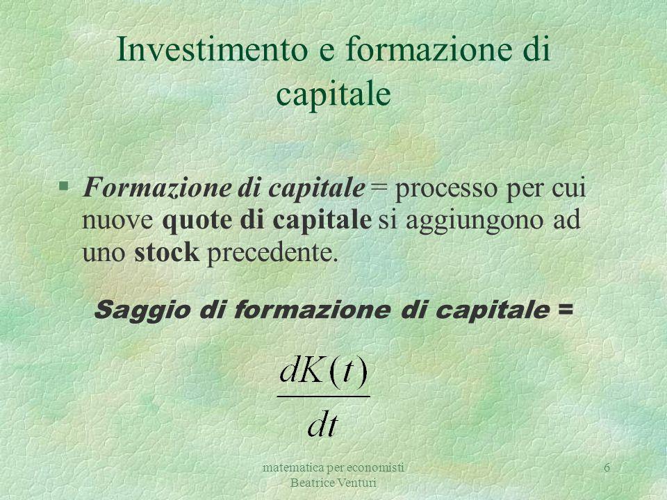 Investimento e formazione di capitale