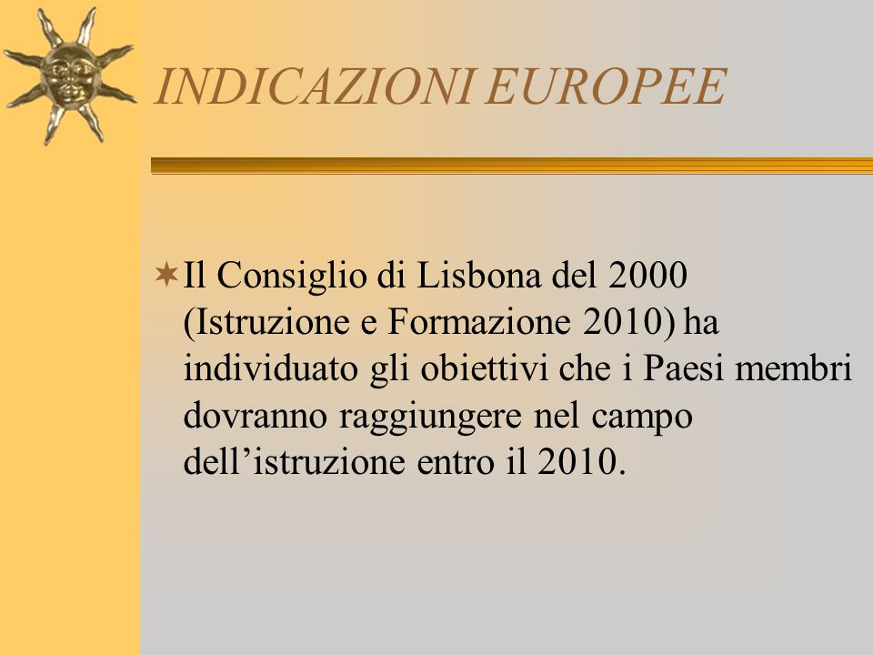 INDICAZIONI EUROPEE