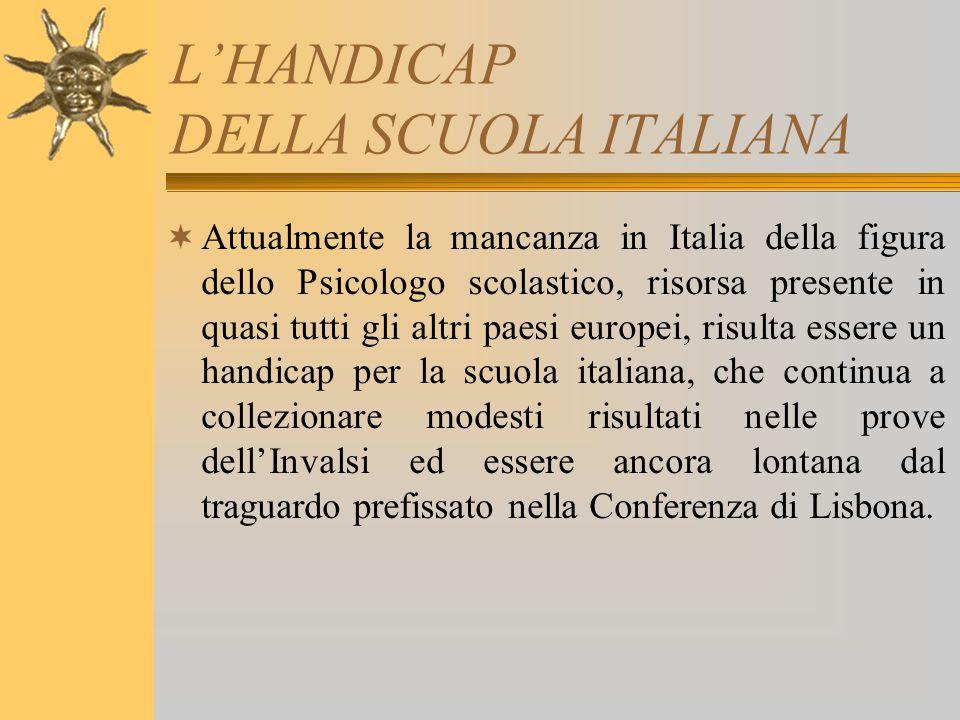 L'HANDICAP DELLA SCUOLA ITALIANA