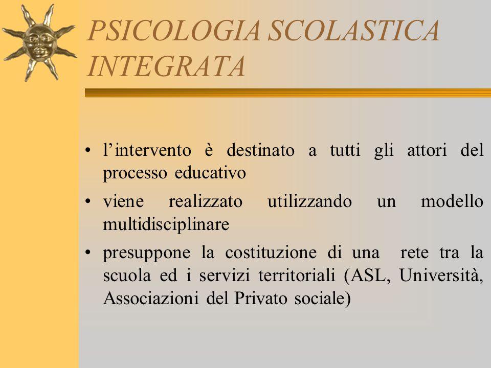 PSICOLOGIA SCOLASTICA INTEGRATA