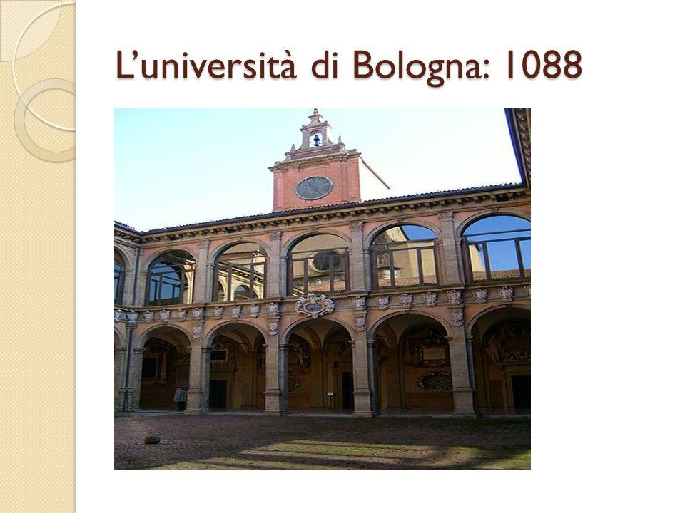 L'università di Bologna: 1088