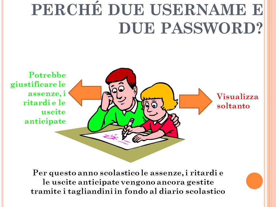 PERCHÉ DUE USERNAME E DUE PASSWORD