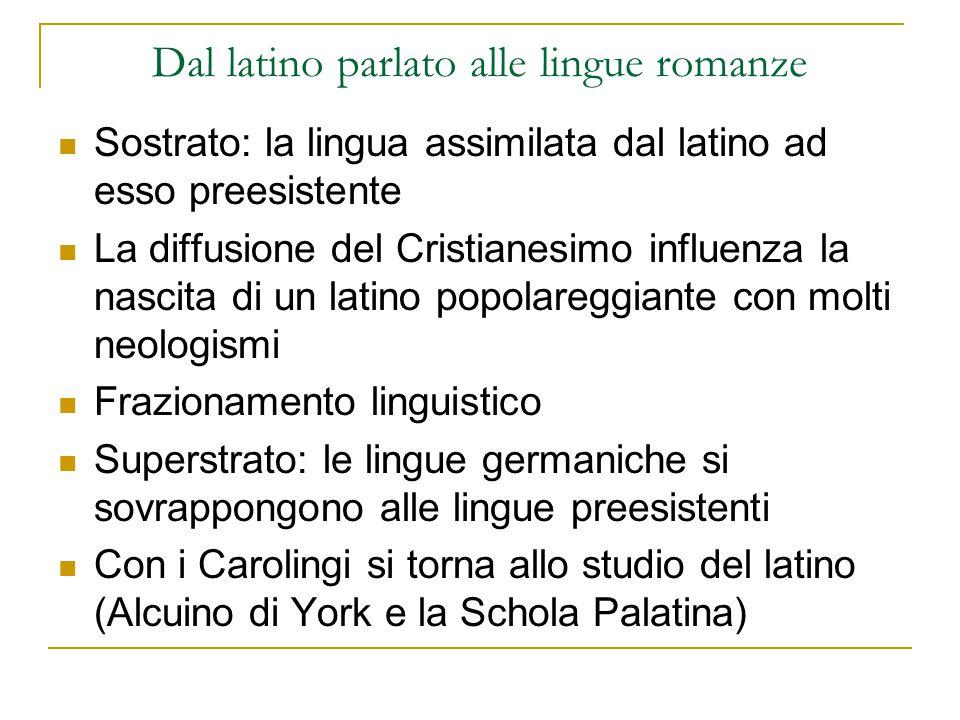 Dal latino parlato alle lingue romanze