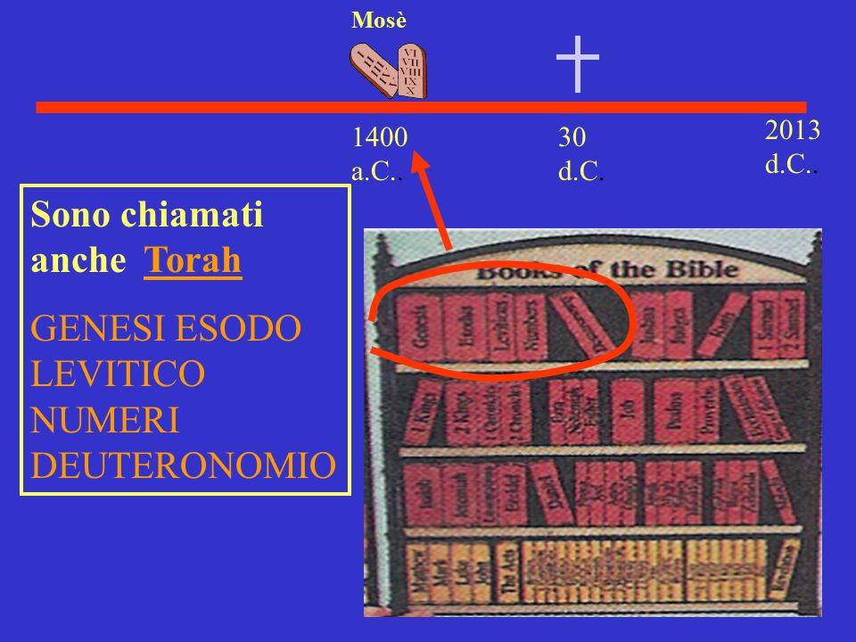 Sono chiamati anche Torah GENESI ESODO LEVITICO NUMERI DEUTERONOMIO