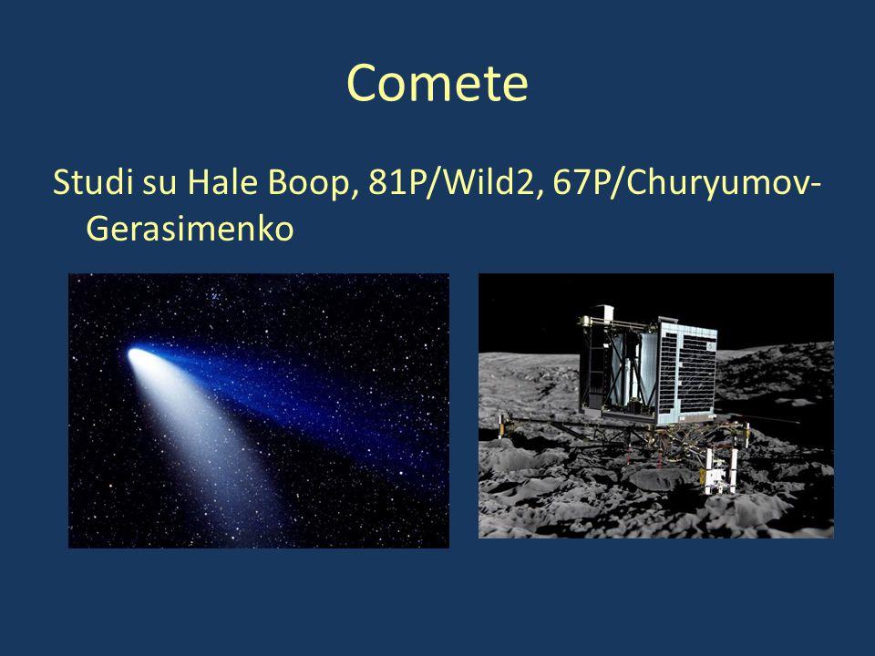 Comete Studi su Hale Boop, 81P/Wild2, 67P/Churyumov-Gerasimenko