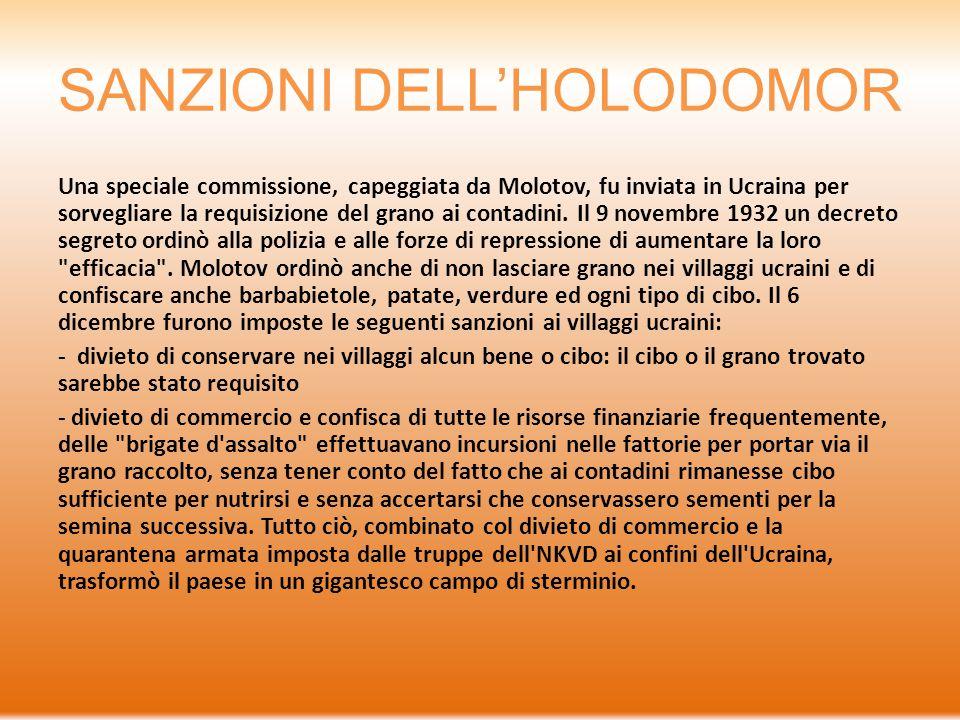 SANZIONI DELL'HOLODOMOR