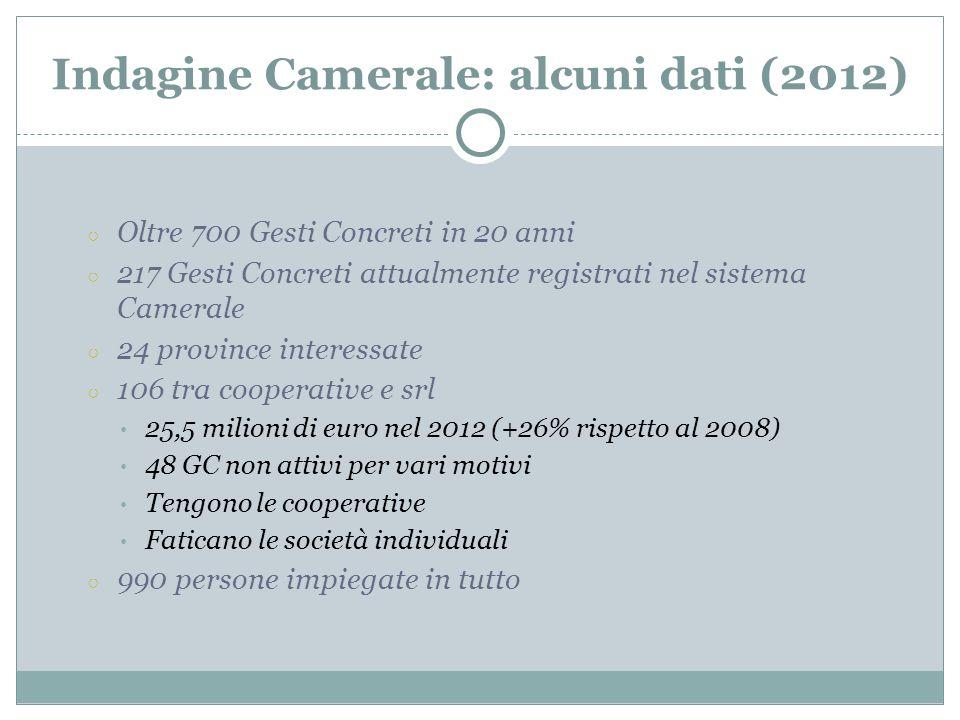Indagine Camerale: alcuni dati (2012)