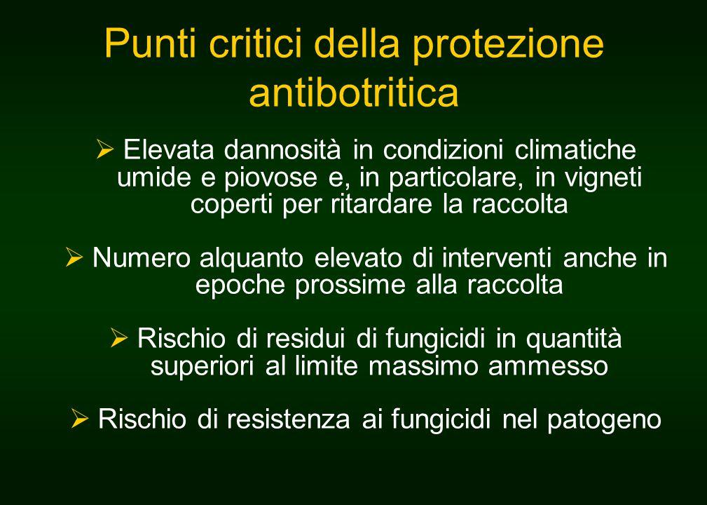 Punti critici della protezione antibotritica