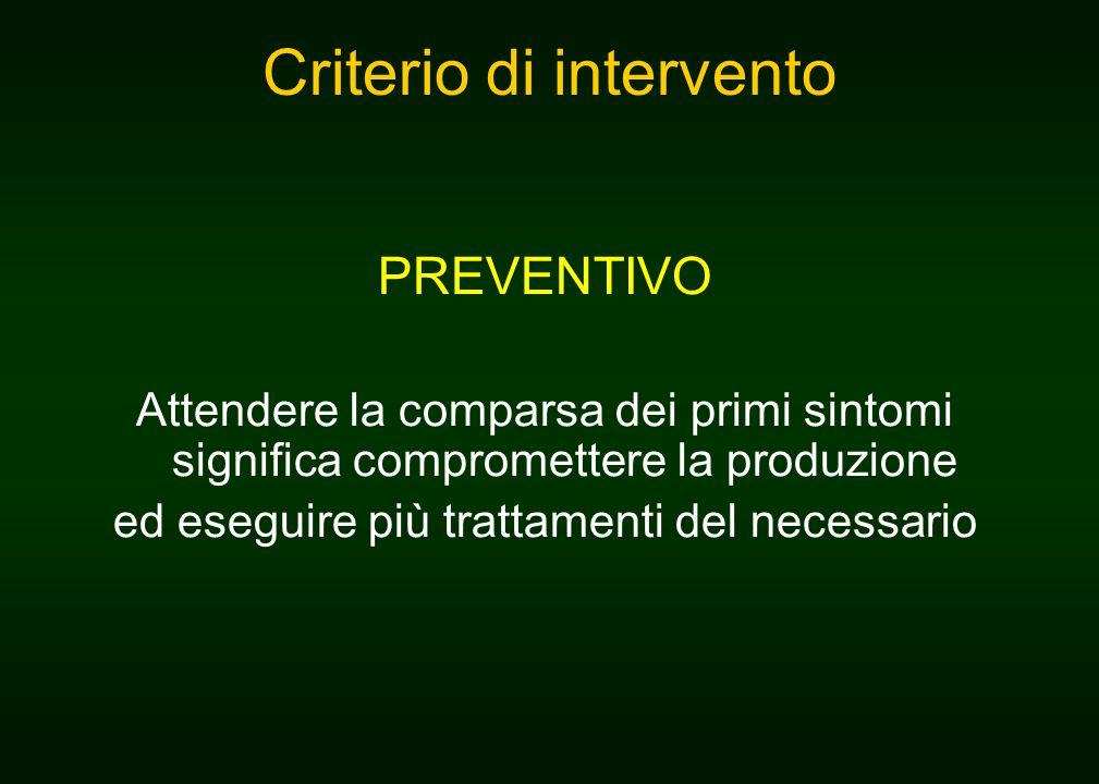 Criterio di intervento
