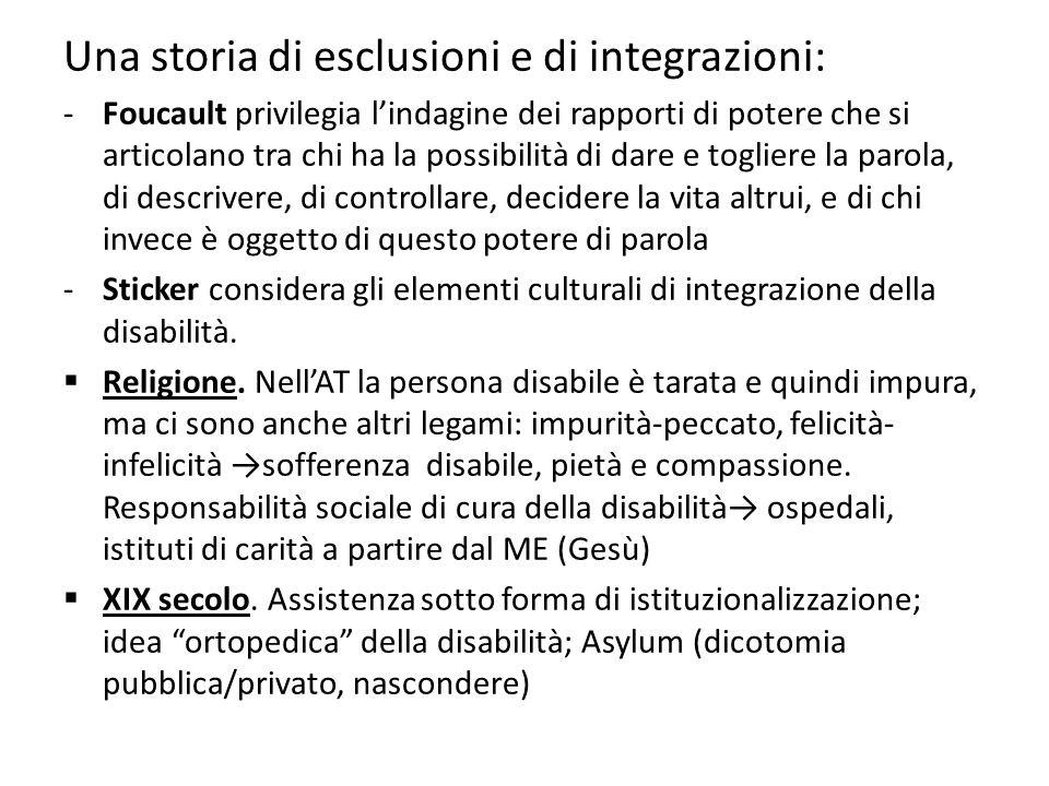 Una storia di esclusioni e di integrazioni: