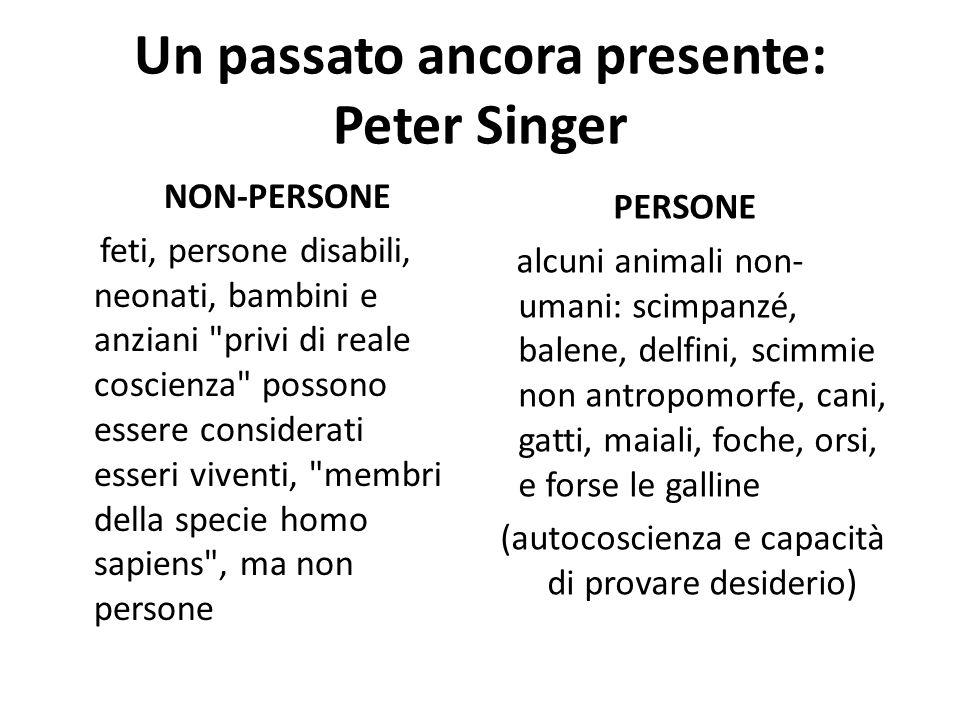Un passato ancora presente: Peter Singer